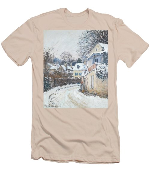 Road Louveciennes Men's T-Shirt (Slim Fit) by Alfred Sisley