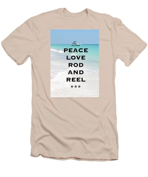 Men's T-Shirt (Slim Fit) featuring the photograph Rod And Reel Restaurant Anna Maria Island  by Margie Amberge