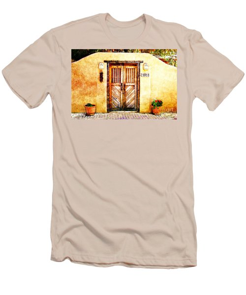 Romance Of New Mexico Men's T-Shirt (Slim Fit) by Barbara Chichester