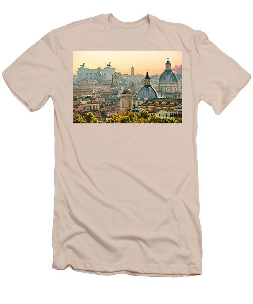 Rome - Italy Men's T-Shirt (Slim Fit) by Luciano Mortula