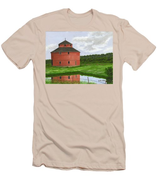Round Barn Men's T-Shirt (Slim Fit) by Dustin Miller