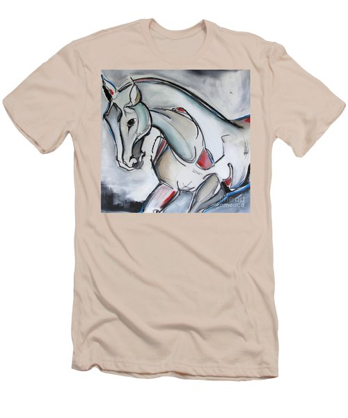 Men's T-Shirt (Slim Fit) featuring the painting Running Wild by Nicole Gaitan