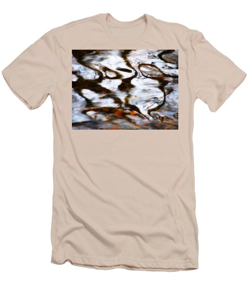 Rushing Water Men's T-Shirt (Slim Fit) by Deborah  Crew-Johnson