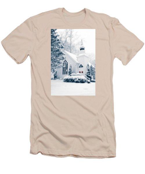 Historic Church Oella Maryland Usa Men's T-Shirt (Slim Fit) by Vizual Studio