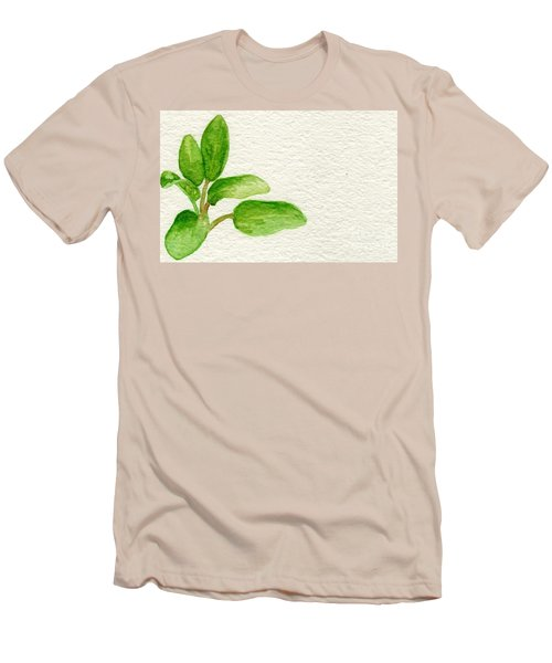 Sage Men's T-Shirt (Slim Fit) by Annemeet Hasidi- van der Leij