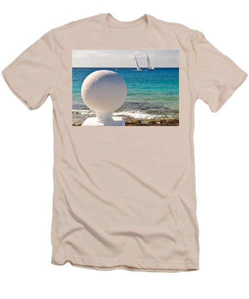 Sailboats Racing In Cozumel Men's T-Shirt (Athletic Fit)