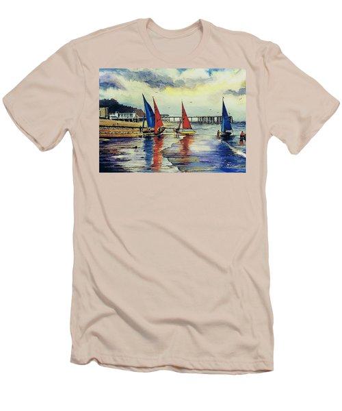 Sailing At Penarth Men's T-Shirt (Athletic Fit)