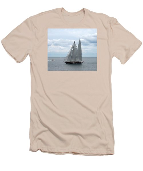 Sailing Day Men's T-Shirt (Slim Fit) by Catherine Gagne