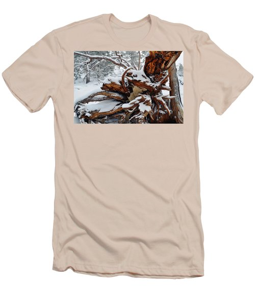 Men's T-Shirt (Slim Fit) featuring the photograph San Jacinto Fallen Tree by Kyle Hanson