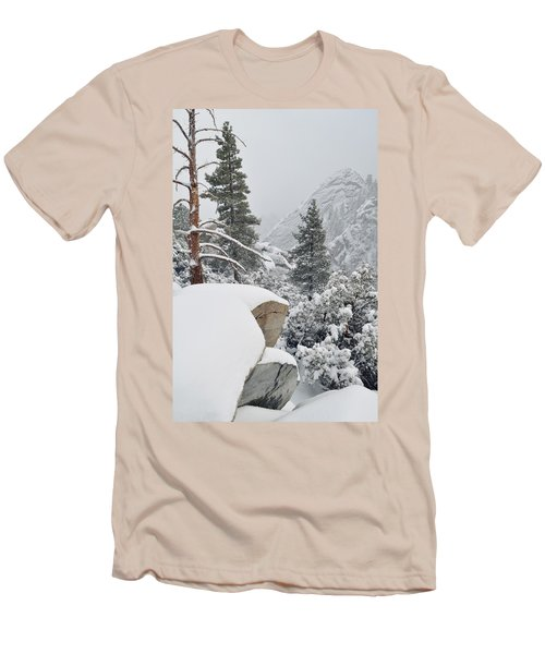 Men's T-Shirt (Slim Fit) featuring the photograph San Jacinto Winter Wilderness by Kyle Hanson