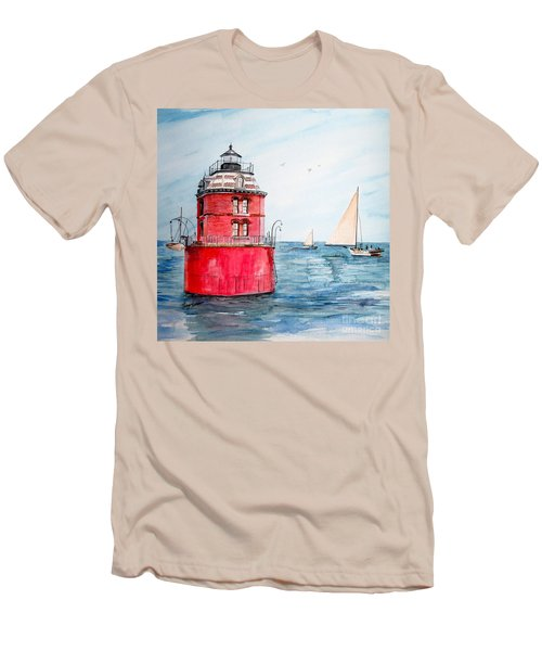 Sandy Point Lighthouse 2 Men's T-Shirt (Athletic Fit)