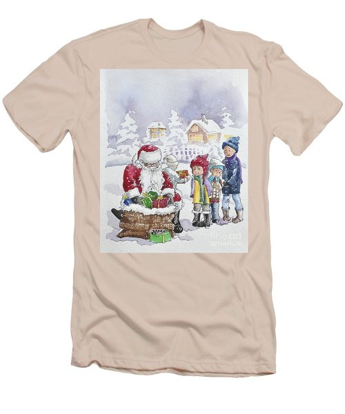 Santa And Children Men's T-Shirt (Athletic Fit)