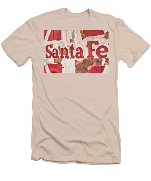 Santa Fe Vintage Railroad Sign Men's T-Shirt (Athletic Fit)