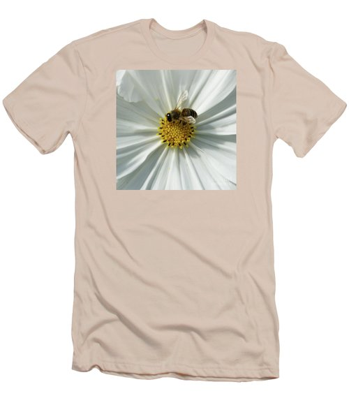 Men's T-Shirt (Slim Fit) featuring the photograph Satin Sheets by Linda Shafer