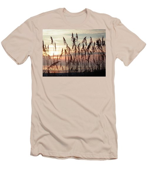 Fabulous Blue Sea Oats Sunrise Men's T-Shirt (Athletic Fit)