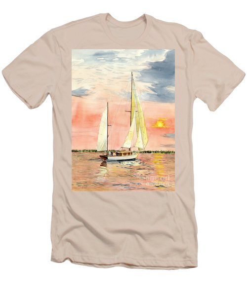 Sea Star Men's T-Shirt (Slim Fit) by Melly Terpening