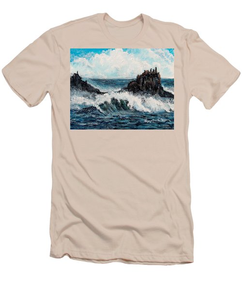 Men's T-Shirt (Slim Fit) featuring the painting Sea Whisper by Shana Rowe Jackson