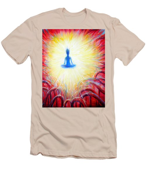 Men's T-Shirt (Slim Fit) featuring the painting Seat Of The Soul by Heather Calderon