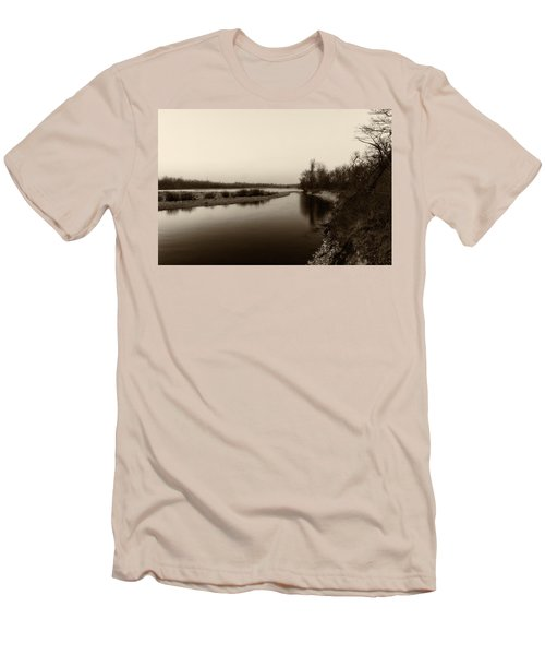 Sepia River Men's T-Shirt (Athletic Fit)