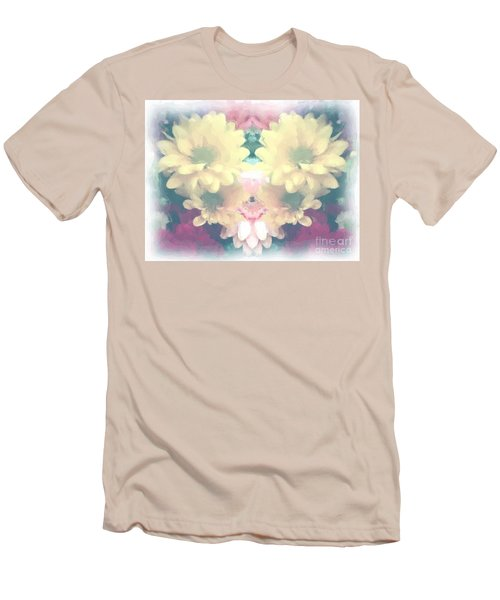 Men's T-Shirt (Slim Fit) featuring the photograph Serene Zinnias by Luther Fine Art