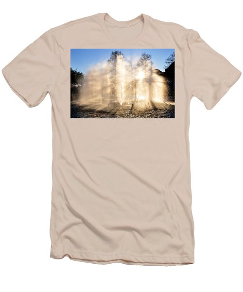 Men's T-Shirt (Slim Fit) featuring the photograph Shadow Play by Charlotte Schafer