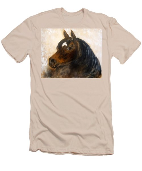 Men's T-Shirt (Slim Fit) featuring the painting Shadow by Barbie Batson