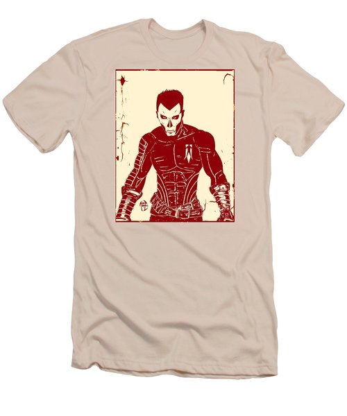 Men's T-Shirt (Slim Fit) featuring the drawing Shadowman Poster by Justin Moore