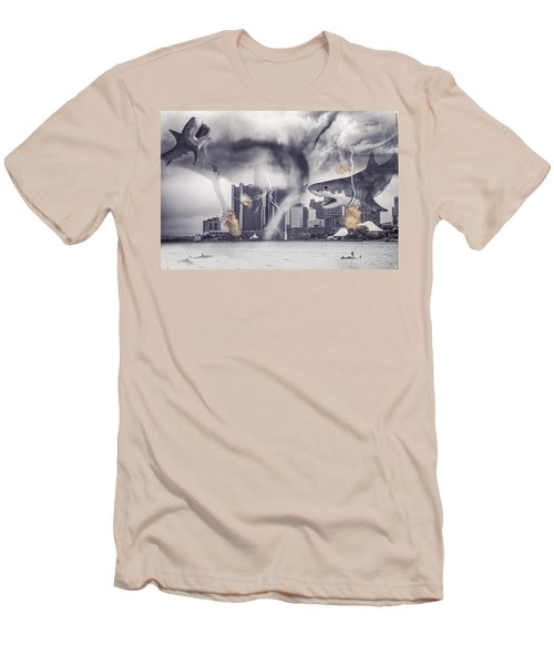 Men's T-Shirt (Slim Fit) featuring the photograph Sharknado Detroit by Nicholas  Grunas