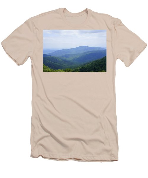 Shenandoah View Men's T-Shirt (Slim Fit) by Laurie Perry