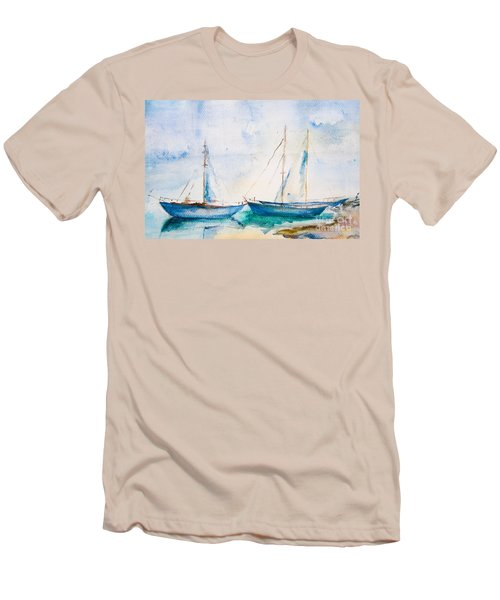 Ships In The Sea Men's T-Shirt (Athletic Fit)