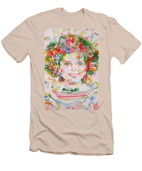 Shirley Temple - Watercolor Portrait.1 Men's T-Shirt (Athletic Fit)