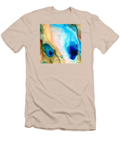 Shoreline - Abstract Art By Sharon Cummings Men's T-Shirt (Athletic Fit)