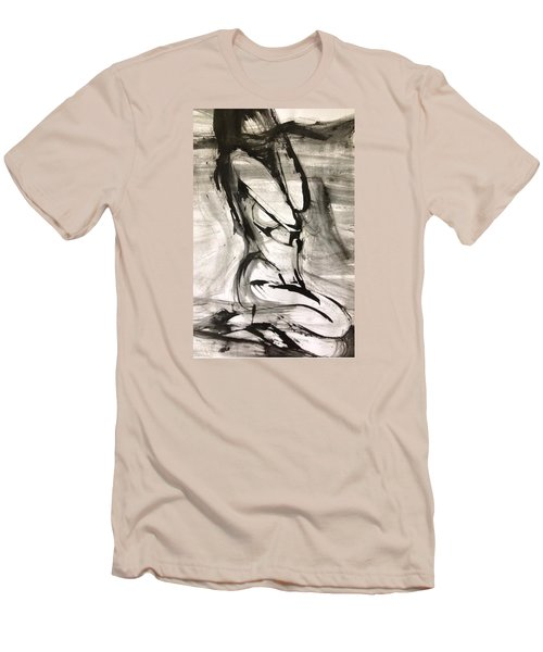 Shy Men's T-Shirt (Slim Fit) by Helen Syron