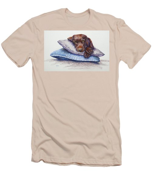 Men's T-Shirt (Slim Fit) featuring the painting Siesta by Cynthia House