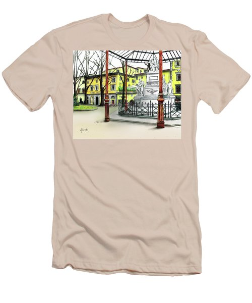 Silla Hotel Piazza Demidoff Florence Men's T-Shirt (Athletic Fit)