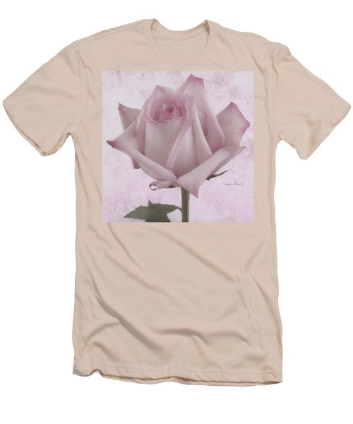Single Pink Rose Blossom Men's T-Shirt (Athletic Fit)