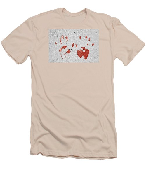Men's T-Shirt (Slim Fit) featuring the photograph Skc 1058 Palm Impressions by Sunil Kapadia