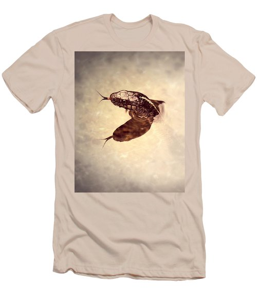 Men's T-Shirt (Slim Fit) featuring the photograph Slithering Reflections by Melanie Lankford Photography