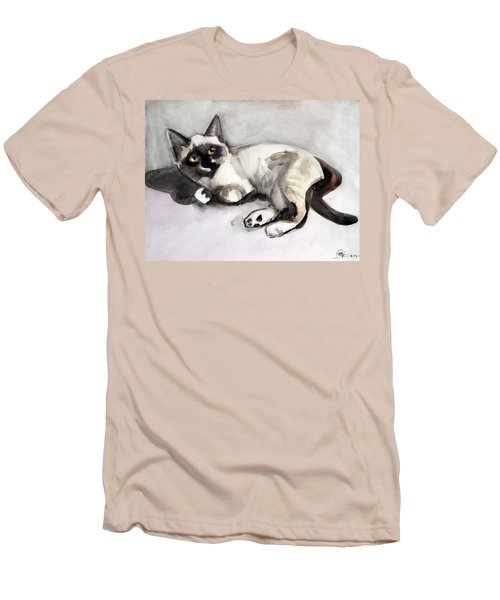 Smudge At 8 Weeks  Men's T-Shirt (Athletic Fit)