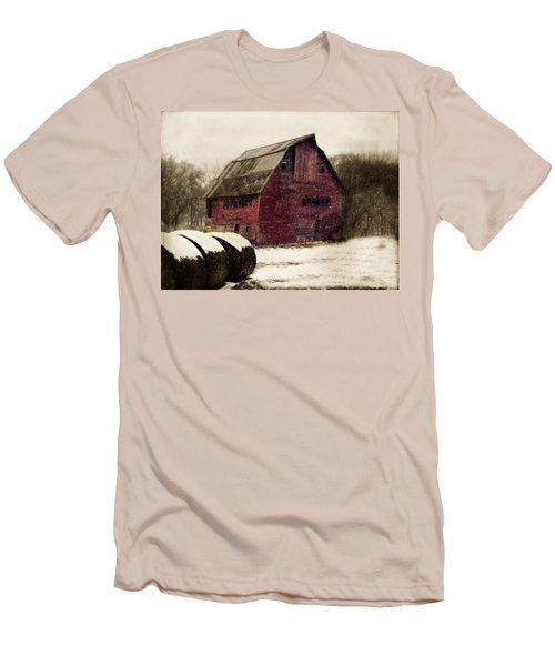 Snow Bales Men's T-Shirt (Slim Fit) by Julie Hamilton