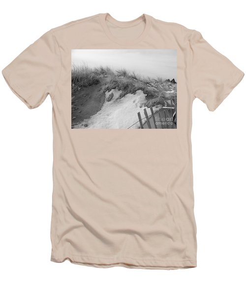 Snow Covered Sand Dunes Men's T-Shirt (Slim Fit) by Eunice Miller