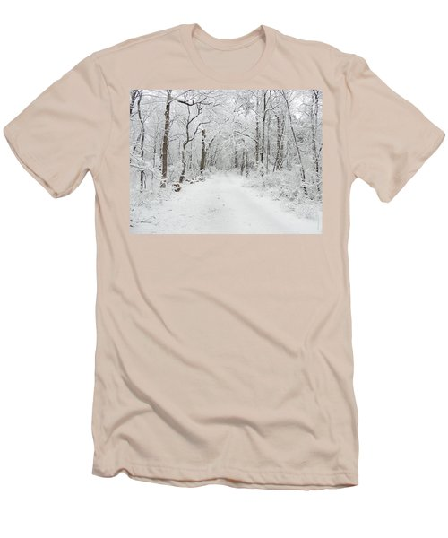 Snow In The Park Men's T-Shirt (Slim Fit) by Raymond Salani III