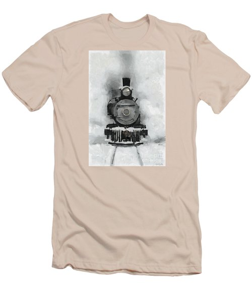 Snow Train Men's T-Shirt (Athletic Fit)