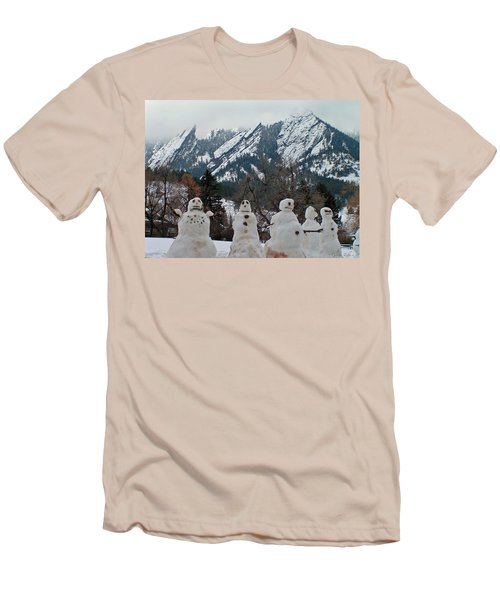 Flatiron Snowmen. Men's T-Shirt (Athletic Fit)