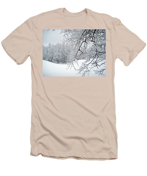 Snowy Branches Men's T-Shirt (Athletic Fit)