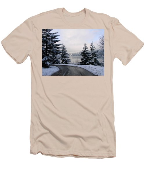 Men's T-Shirt (Slim Fit) featuring the photograph Snowy Gorge by Athena Mckinzie