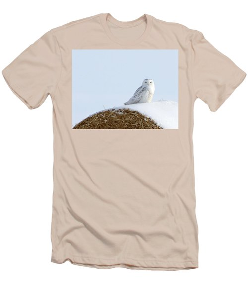 Men's T-Shirt (Slim Fit) featuring the photograph Snowy Owl by Alyce Taylor