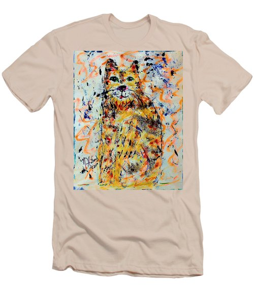 Sophisticated Cat 3 Men's T-Shirt (Slim Fit) by Natalie Holland