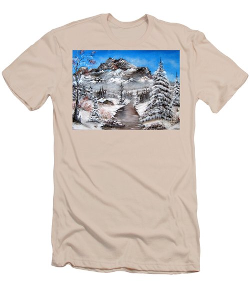 Men's T-Shirt (Slim Fit) featuring the painting South Dakota Morning by Patrice Torrillo