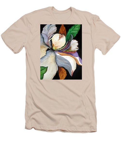 Men's T-Shirt (Slim Fit) featuring the painting White Glory II by Lil Taylor